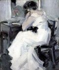 A Lady in White - John Duncan Fergusson - The Athenaeum