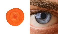 Carrots are good for the eye and, slice a carrot in half crosswise and you'll see it resembles the eye