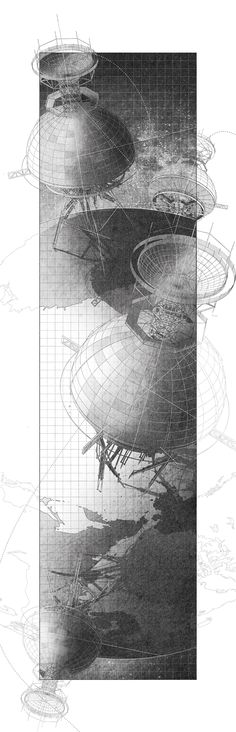 Denari's Inverted Observatory - Benjamin Ruswick, Architecture, Harvard Graduate School of Design, Thesis Architecture Graphics, Architecture Drawings, Architecture Design, Concept Art, Sketches, Urban, Abstract, Artwork, Harvard Graduate