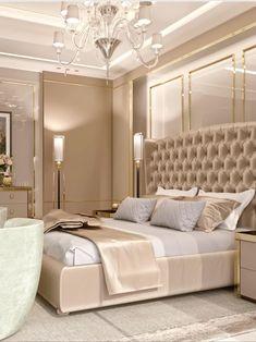 Bespoke interior design&decoration in Dubai from one of the best interior design companies in UAE. Luxury interior design service price at AED 110 per sq. Modern Luxury Bedroom, Master Bedroom Interior, Luxury Bedroom Design, Modern Master Bedroom, Master Bedroom Design, Luxury Interior Design, Luxurious Bedrooms, Home Bedroom, Bedroom Interiors