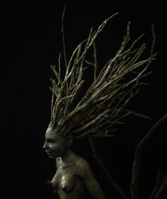 Wood sprite sculpture