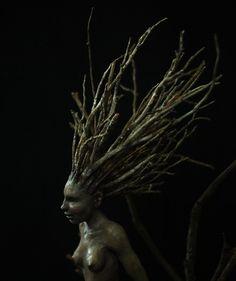 Wood sprite sculpture