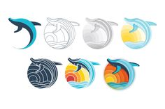 Humpback Whale Logo Free Vector Resource
