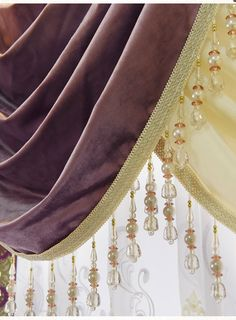 New arrival Twynam Purple and Red Waterfall and Swag Valance and Sheers Custom Made Chenille Velvet Curtains