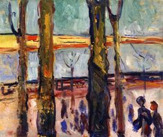 edvard munch(1863-1944), canal in warnemünde, 1908. oil on panel, 49 x 59.5 cm. munch-museet, oslo, norway http://www.the-athenaeum.org/art/detail.php?ID=90162