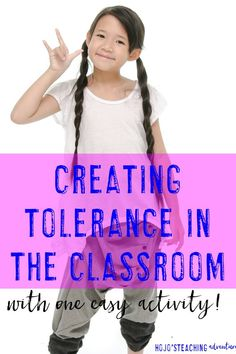 Are you a teacher looking at creating tolerance in the classroom? Then you're going to LOVE this simple activity! Just spent 30 minutes at the beginning of the year, and you'll have a more tolerant, caring classroom all year long! This will work great wit