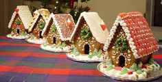 Different roof styles for gingerbread houses