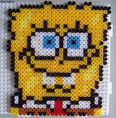 Spongebob hama beads by Les loisirs de Pat
