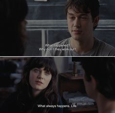 ― (500) Days of Summer (2009)Tom: What happened? Why didn't they work out?Summer: What always happens. Life.