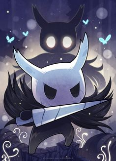 [Fan Art] Hollow Knight (revised: by miksketched Knight Halloween, Dibujos Dark, Hollow Night, Knight Games, Hollow Art, Knight Art, Sombre, Sonic Art, Indie Games
