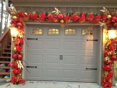 dont forget about your garage doors at christmas decorating done by