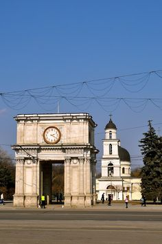 Chişinău city center,  the great assembly square.