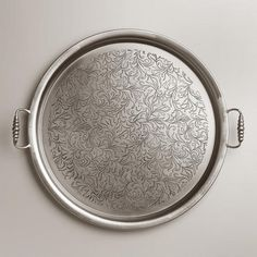 Large Round Iron Tea Tray from Cost Plus World Market's New Desert Caravan Collection >> #WorldMarket Home Decor Ideas