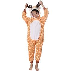 ccd0284790a0e Socluer Fille Ensemble de Pyjama Enfants Unisexe Licorne Animaux Combinaison  de Nuit Grenouillère Cosplay Costume