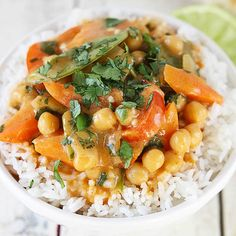 Easy, healthy, and incredibly delicious 20 minute vegetarian chickpea curry.