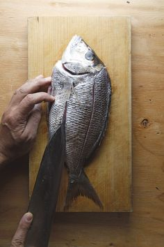 How To Prepare A Whole Fish For Deep Frying - Food Republic Fried Whole Fish, Red Snapper, Sea Bass, In The Flesh, Fries, Deep Frying, Food, Essen, Yemek