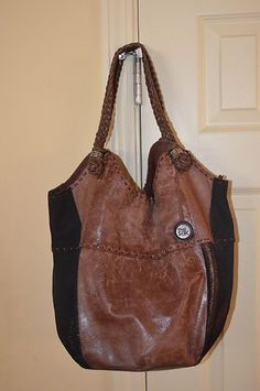 185c061953 The Sak Leather Bucket Bag Purse Patchwork Hippie Tote XL Huge Handbag  Suede