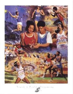 TRACK AND FIELD DREAMING Poster - Clemente Micarelli -available at www.sportsposterwarehouse.com