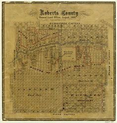 This retired Roberts County map from our Archives is a fine example of a late 19th century Texas panhandle county map. Because of the rural location and sparse population, these counties were established much later than the east and south Texas counties that saw most of the immigration in the 1800s.  Purchase a print of this map in our map store: http://www.glo.texas.gov/cf/ArcMaps/ArcMapsSearch.cfm?intCounter=3993&req=dis