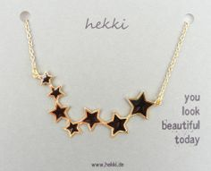 Kette *STARS* - schwarz via hekki. Click on the image to see more!