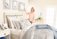 Update for Spring with the new Martha Stewart Collection™ Gemstone Paisley 22-pc Bedroom Ensemble, exclusively at Macy's. Martha's Tip: try integrating the accent color from your bedding ensemble into the room's decor. Hang pictures with mats that echo the color and paint a simple lampshade to match!