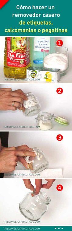 Cómo hacer un removedor casero de etiquetas, calcomanías o pegatinas de cualquier superficie
