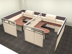 When your client has a team that doesn't require a lot of collaboration to be successful, you may opt for a layout similar to this two pack. The peninsula adds a meeting space to the layout in case needed and there is plenty of storage for each. Office Furniture Warehouse, Flexible Furniture, Administrative Assistant, Cubicles, Panel Systems, Prefixes, Work Desk, The Office, Your Space