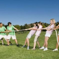 Plan a mix of individual and group games for field day.