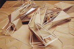 Peter Eisenman - Bibliotheque de Lihuei, Geneva, Switzerland Conceptual Model Architecture, Maquette Architecture, Parametric Architecture, Concept Architecture, Amazing Architecture, Contemporary Architecture, Architecture Design, Arch Model, Modelos 3d