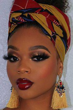 23 Stunning Makeup Ideas for Black Women Cute Makeup, Glam Makeup, Beauty Makeup, Bride Makeup, Glitter Makeup, Pretty Makeup, Gold Glitter, Black Girl Makeup, Girls Makeup