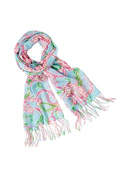 Murfee Scarf - Lilly Loves Hope, Lilly Pulitzer, 20% of sale goes to American Cancer Society