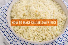 to Make Cauliflower Rice - A Photo Tutorial from Oh My Veggies! A step-by-step tutorial on how to make cauliflower rice using a food processor or box grater.A step-by-step tutorial on how to make cauliflower rice using a food processor or box grater. Veggie Recipes, Low Carb Recipes, Real Food Recipes, Vegetarian Recipes, Cooking Recipes, Healthy Recipes, Colliflower Recipes, Recipies, How To Make Cauliflower