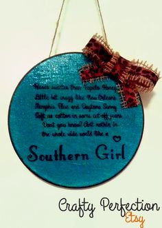 Southern Girl Tim Mcgraw Country Music Sign by CraftyPerfection, $12.00