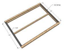 here's the best way to beef it Diy Platform Bed Plans, Full Size Platform Bed, Wood Platform Bed, Diy Bed Frame Plans, Full Bed Frame, Headboards For Beds, Headboard Ideas, Wood Headboard, Furniture Plans