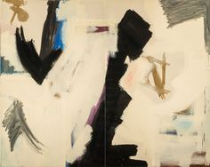Judith Godwin, Epic, Oil paint on canvas (diptych); 82 x 100 in. On loan from the National Museum of Women in the Arts, Washington, DC. Gift of Caroline Rose Hunt. Photograph by Lee Stalsworth. (c) Judith Godwin. Joan Mitchell, History For Kids, Art History, Museum Of Modern Art, Art Museum, Poetry Painting, Painting Canvas, Lee Krasner, Harper's Bazaar