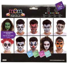 Paleta Maquillaje de Halloween Adulto #maquillajehalloween #efectosespeciales Maquillaje Halloween, Evil Clowns, Halloween Face Makeup, Pumpkin, Ideas, Products, Colorful Makeup, Makeup Step By Step, Makeup Pallets