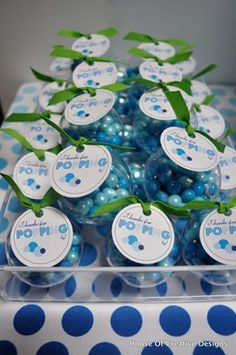 """Thank You for POPPING By"" bubble gum favors 