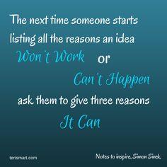 Notes to inspire, Simon Sinek