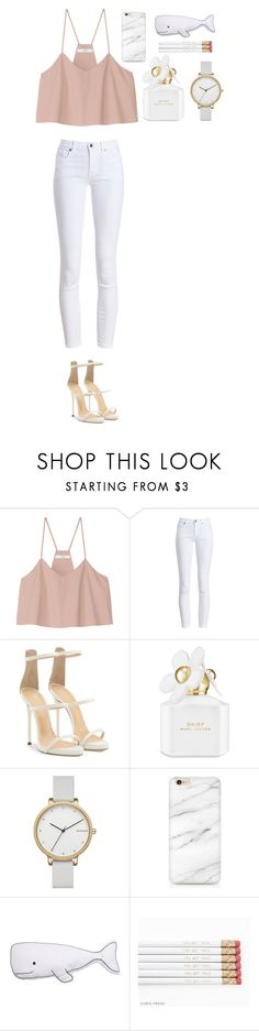 """Untitled #467"" by dutchfashionlover ❤ liked on Polyvore featuring TIBI, Barbour, Giuseppe Zanotti, Marc Jacobs, Skagen, Thro, casual and white"