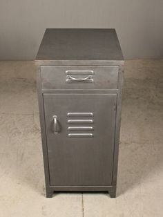 lucas end table | redinfred industrial and school house inspired locker end table