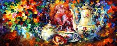 TEA PARTY  - Original Oil Painting On Canvas By Leonid Afremov http://afremov.com/TEA-PARTY-Original-Oil-Painting-On-Canvas-By-Leonid-Afremov-16-X40.html?bid=1&partner=20921&utm_medium=/vpin&utm_campaign=v-ADD-YOUR&utm_source=s-vpin