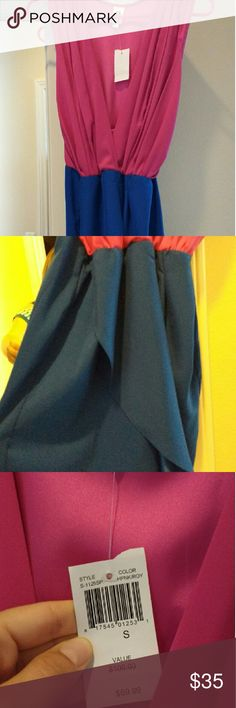 Nwt Hot pink and Blue dress Nwt hot pink and blue dress. Size small Dresses