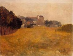 Small Village in the Medoc - Odilon Redon (1840-1916)