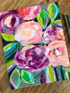 My Daily Painting and Easy Abstract Flower Painting Tutorials Step by Step for Beginners — Elle Byers Art Acrylic Painting For Beginners, Acrylic Painting Tutorials, Beginner Painting, Acrylic Art, Acrylic Painting Canvas, Acrylic Flowers, Abstract Flowers, Paint Flowers, Painting Abstract