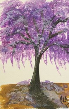 Excited to share this item from my shop: Purple Jacaranda Tree Print, home decor, unique gift, wall art, art print Art Prints, Wall Art, Purple Paintings Canvas, Tree Painting, Tree Print, Tree Iphone, Art, Popular Art, Purple Painting