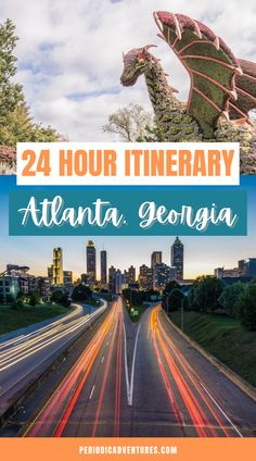 In this travel guide, learn how to spend 24 hours in Atlanta with the best views of the Atlanta skyline, the best restaurants in Atlanta, what to do for one day in Atlanta, and the best free things to do in Atlanta! This travel guide includes info on the Atlanta Beltline, Atlanta murals, Ponce City Market, and where you can have the best donuts of your life! Promise! | Atlanta travel guide | Georgia things to do | Atlanta Georgia | Piedmont Park | things to do in Atlanta | best us destinations World Travel Guide, Europe Travel Tips, Travel Hacks, Usa Travel, Travel Guides, Georgia Usa, Atlanta Georgia, Work Travel, Business Travel