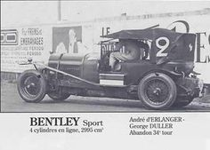 LE MANS 1927 Bentley Super Sport  #2