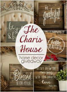 Enter to win a beautiful pallet art piece from one of my favorite Etsy stores, The Charis House. Giveaway ends 2/9!