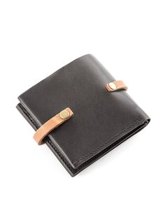 Leather Wallet with Snap Closure