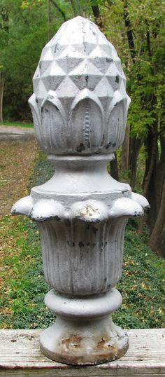 Take an old finial and give it an antique paint job